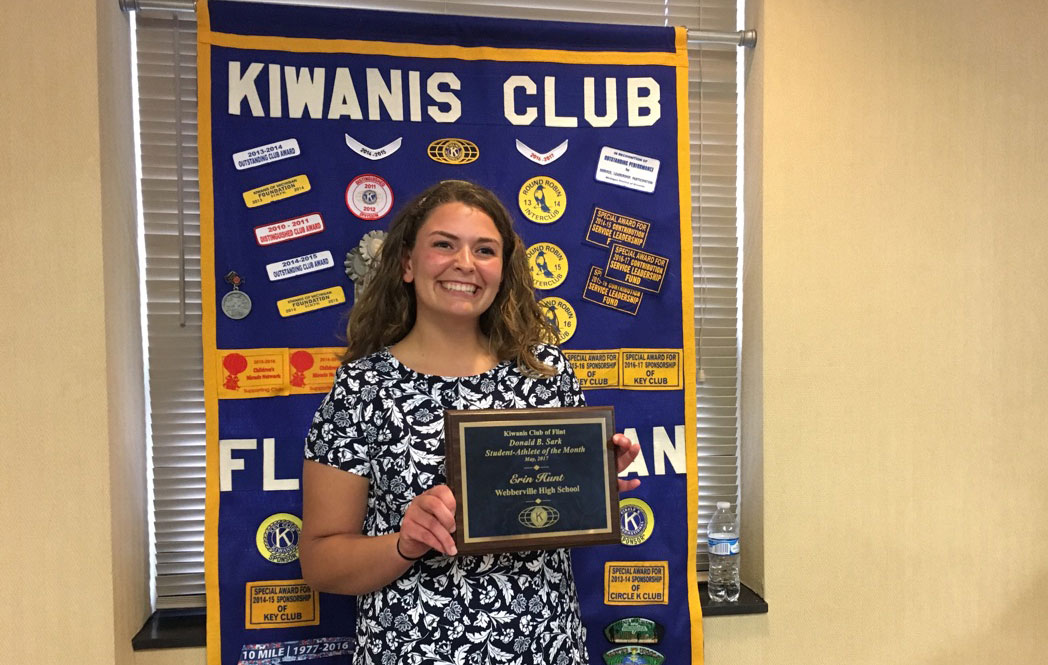 Congratulations Erin Hunt - Kiwanis Athlete of the Month